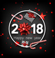 grey 2018 happy new year card vector image vector image