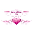 Happy Valentines day border pink world map heart vector image vector image
