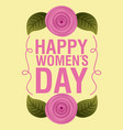 happy womens day card invitation vector image