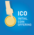 ico blockchain technology initial coin offering vector image