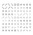 icons set different arrows and pointers on vector image vector image