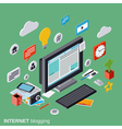 Internet blogging web publication concept vector image vector image