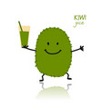 kiwi cute character for your design