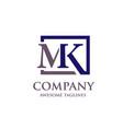 Letter mk logo