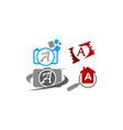 logotype a modern template set vector image vector image