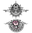 Lotus tattoo vector image vector image