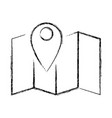map location symbol vector image vector image