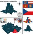 map south moravian czech republic vector image