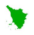map tuscany vector image vector image