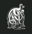 monster octopus tentacles flow slime logo vector image
