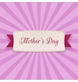 Mothers Day Text on greeting Card with Ribbon vector image vector image