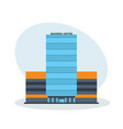 multi-storey business center building office vector image vector image
