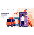online delivery ecommerce promote fast service vector image