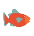 orange fish marine ecosystem life vector image vector image