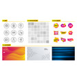 parking user idea and identification card icons vector image