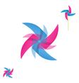 Pinwheel rotating icon vector image vector image