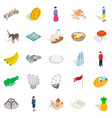 point of interest icons set isometric style vector image vector image