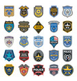 police badges officer security federal agent vector image