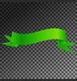 realistic shiny green ribbon banner isolated vector image