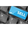 sell written on keyboard keys showing business or vector image vector image