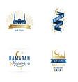 set emblems for islamic holy holiday ramadan vector image