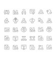 set line icons c2c vector image