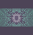 shield network data protection system concept vector image