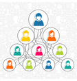 Social networking people vector image vector image
