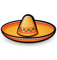 sombrero mexican hat cartoon vector image vector image