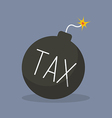 Tax bomb with sparkle vector image vector image
