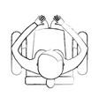 top view women sitting cartoon vector image vector image