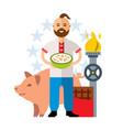 ukrainian industry livestock traditional vector image vector image