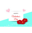 valentines day festive composition with red rose vector image vector image