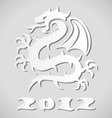 white paper dragon vector image vector image