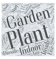 Why You Should Start an Indoor Garden Word Cloud vector image vector image