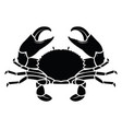 crab sea animal silhouette vector image