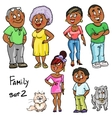 Family - set 2 vector image