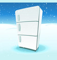 fridge inside north pole landscape vector image