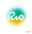 Summer Rio de Janeiro Olympics Games 2016 vector image