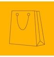 Shopping bag line icon