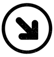 Arrow Down Right Icon Rubber Stamp vector image vector image