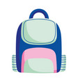 back to school backpack equipment accessory vector image