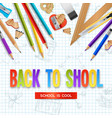 back to school design concept vector image vector image