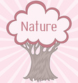 Background with cute retro tree vector image