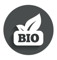 Bio product sign icon Leaf symbol vector image vector image