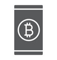 bitcoin app glyph icon finance and money mobile vector image vector image