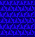 blue abstract background 3d triangle pattern