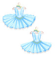 blue tutu on the hanger vector image vector image