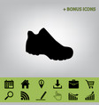 boot sign black icon at gray background vector image