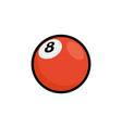 bowl red ball icon bowling cartoon ball vector image